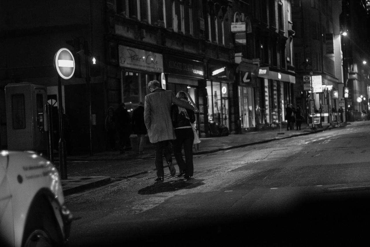 London on a rainy night
